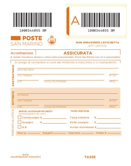 Servizi Postali - Poste San Marino